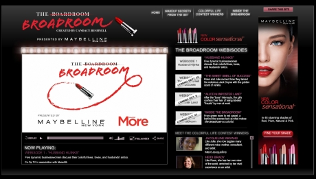 Maybelline's sponsorship of the Broadroom really epitomizes what sponsors want from web series, and what many of the deals in this market look like at the moment.